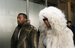 Kanye West & Amber Rose (Karl Hab) Tags: show new paris cold west fashion rose fur louis amber january nike hype karl week mode vuitton aw 104 hab 2010 dor menswear garance kanye sartorialist montaingnestreet
