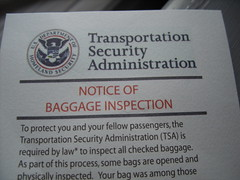 Transportation Security Administration notice