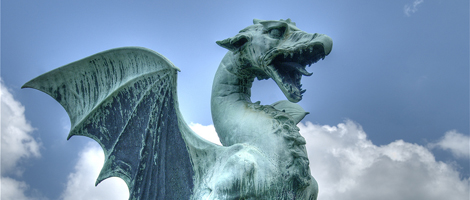 Choice of the Dragon - Dragon Statue