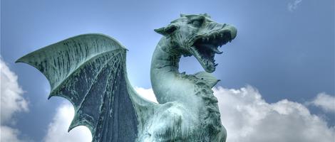 Choice of the Dragon - Dragon Statue