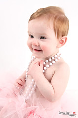 Classy Gal (Jerrica Joy) Tags: baby cute girl newfoundland colorful babies child pearls ribbon tulle tutu