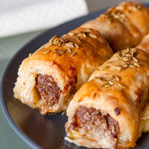 veal & fennel sausage rolls