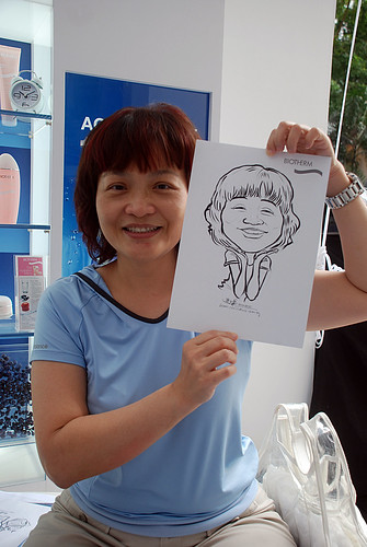 Caricature live sketching for Biotherm Roadshow Loreal - 8