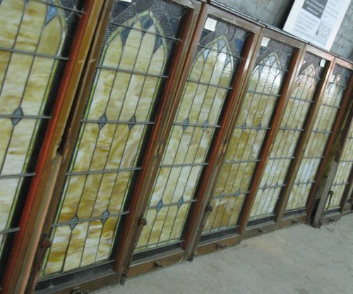 Row of Stained Glass windows