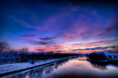 Crayon Sky (Shoeven) Tags: sunset sky germany colorful wideangle tokina hdr neckar 2010 ilvesheim 1116mm