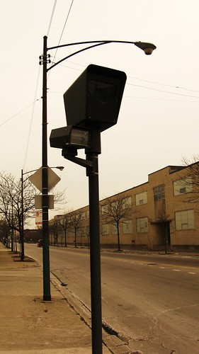 Chicago Police Department intersection camera at West 31st Street and South Kedzie Avenue. Chicago Illinois. Febuary 2010.