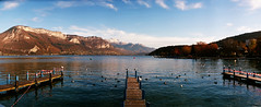 i heart annecy (kygp) Tags: november france colour annecy nature analog photography horizon lac panoramic 2009 panoramique