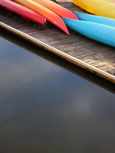 kayaks and sky