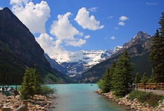 Lake Louise, Banff National Park, Alberta Canada (PhotoDG) Tags: banff national park alberta canada north america canadian rockies icefield parkway glacier lake louise eos30d kitlens landscape nature color colour glacierfed efs1855mm desguo banffnationalpark rockymountain 冰川