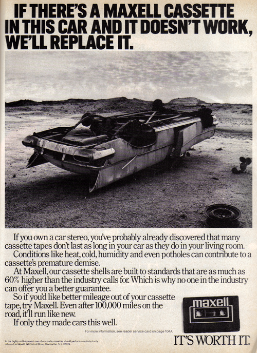 Vintage Ad #1,031: If There's a Maxell Cassette In This Car...