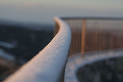 snow in the balcony (mansdor) Tags: winter sun white snow cold sol landscape nieve temperature