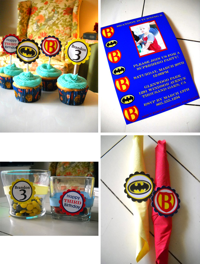Boy Superhero Birthday Party Collection