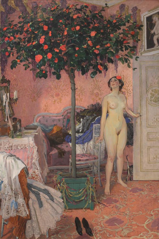 Józef Mehoffer, Růžová komnata v Jankowcích [Pink Chamber in Jankowce], 1907-1913