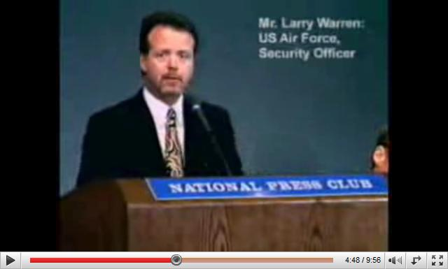 Larry Warren US Air Force Security Officer