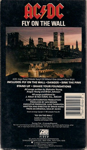 1985 AC/DC Fly On The Wall VHS (Back)