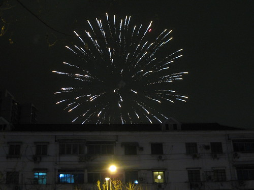 New Years Eve fireworks in Shanghai