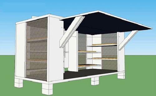 design for Haiti shelter (by: DPZ via Inhabitat)