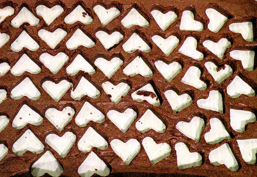 brownies and between hearts