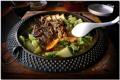 Join me for some Sukiyaki (JoLiz) Tags: food vegetables japanese soup restaurant dish beef tofu plate meal noodles sukiyaki hotpot
