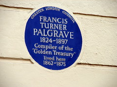 Photo of Francis Turner Palgrave blue plaque