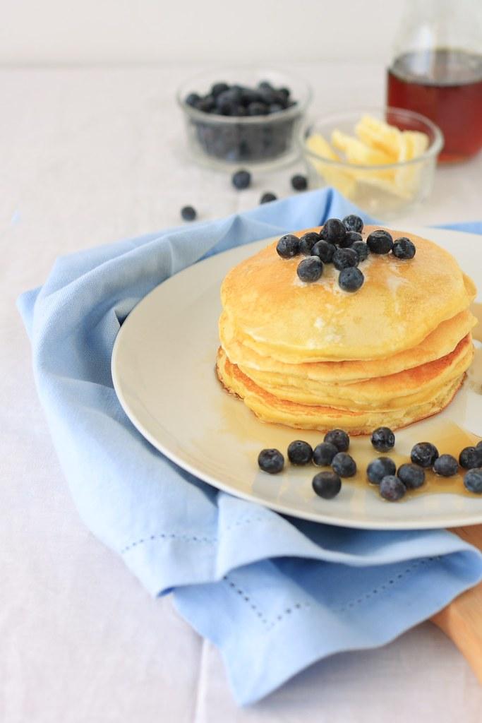 Blueberry Ricotta Hotcakes