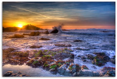 Pacific Grove Sunset - HDR (Ah Hman) Tags: sunset pacific grove hdr topaz denoise photomtaix