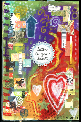 Listen To Your Heart: Art Journal Page