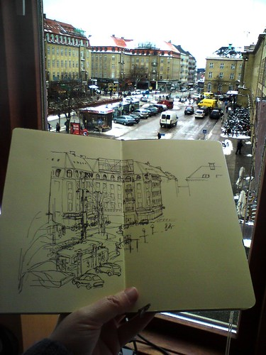 sketching the view