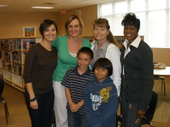 Ian with his teachers, classmate, and principal