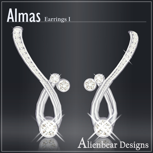 Almas earrings I white