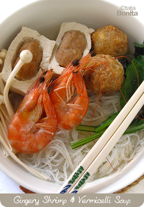Gingery Shrimp & Vermicelli Soup