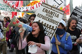 Greece workers have engaged in several general strikes over the last few weeks in repsonse to austerity measures being imposed stemming from the global economic crisis within the world capitalist system. The crisis threatens the eurozone and US markets. by Pan-African News Wire File Photos