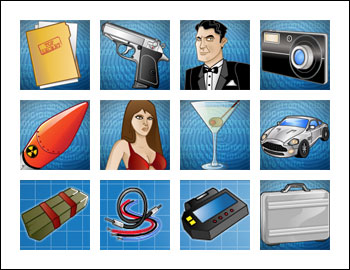free Spy Game slot game symbols