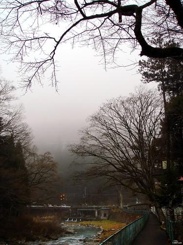 濃霧 四万温泉