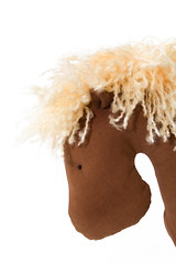 Toy Horse (asasirov) Tags: horse brown yellow toy handmade tilda isolated