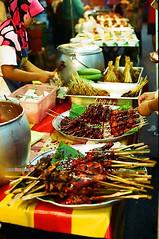 Food Haven (mankamen et ella) Tags: auto street food woman sc night asian 50mm succulent nikon women asia market f14 muslim hijab adventure 400 malaysia f2 nikkor milf culinary dnp malam fju pasar ayam rsm centuria percik photomic filmforever manilovefilm randomshotmalaysia filmjunkiesunite filemmalaya