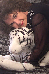 Portrait of me and my baby cat! (Sugarbarre2) Tags: show red party people woman hot beautiful face closeup hair mom toy happy photo big eyes nikon photographer wildlife tiger flash s babe lips mature wife granny selfimage