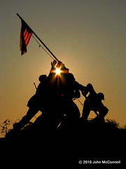 Iwo Jima Memorial (johnnyrmac) Tags: dpssilhouettes