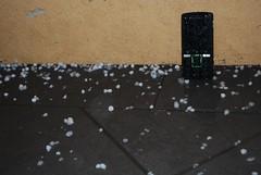 Pea-sized hail pelting Sony Ericsson K850i