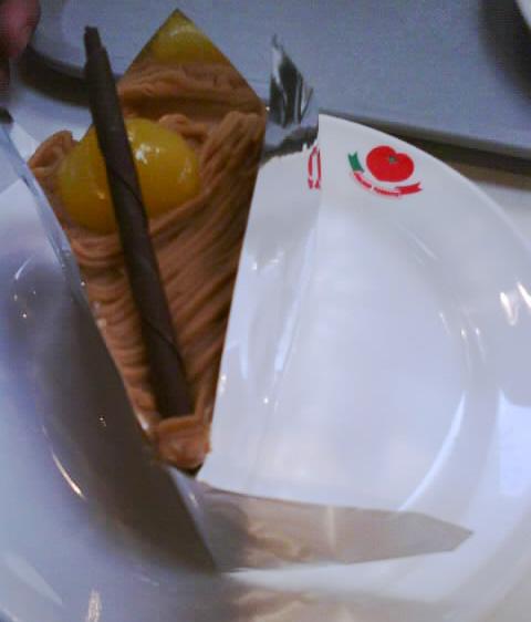 Mont Blanc cake.