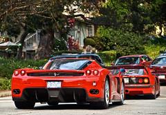 Ferrari Duo (Noah Gillard Photography) Tags: slr cars beach mercedes crazy fast ferrari pebble mclaren enzo carmel gto expensive bugatti rare monterrey coupe veyron carmelvalley 288 f40 f60 grandsport noahgillardphotography
