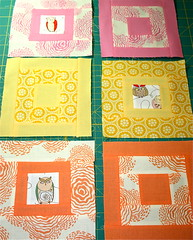 More Paintbox quilt along squares