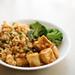Vegan Orange Chik'n with Fried Rice and Brocolli