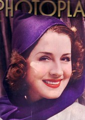 Norma Shearer on the cover of Photoplay, April 1939 (Silverbluestar) Tags: ladies girls color classic film beautiful beauty hat vintage magazine stars 1930s women pretty purple womens cap cover hollywood actress movies celebrities shawl brunette mgm 1939 academyaward oscarwinner photoplay womens normashearer metrogoldwynmayer