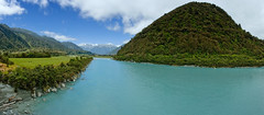 Whataroa River, West Coast, New Zealand (goneforawander) Tags: new travel newzealand wild panorama west nature composite river landscape outdoors island coast nikon scenery stitch natural pacific pano south d70s wideangle southern zealand backpacking montage nz photomerge aotearoa australasia oceania whataroa goneforawander