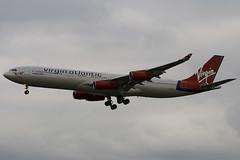 G-VELD - 214 - Virgin Atlantic Airways - Airbus A340-313X - Heathrow - 080318 - Steven Gray - IMG_1031