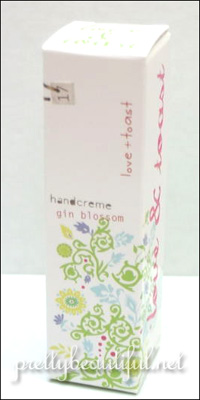 love & toast handcream - gin and blossom