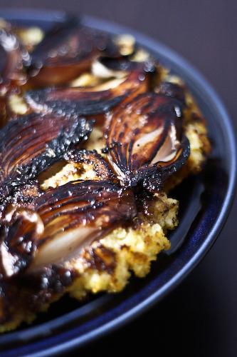 onion polenta cake_