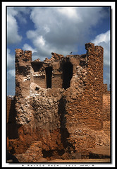 Flight over Ruins - Vol au dessus des ruines (Rachid Naim) Tags: africa sky mer monument clouds de ruins fort pigeon culture atlantic ciel morocco maroc safi chateau nuages portuguese emmanuel ksar  afrique  ruines atlantique       asfi            portugaises         elbhar