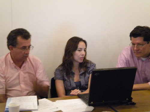 Project 2 team leader Marcela Quintero with members Wilson Otero and Jeimar Tapasco